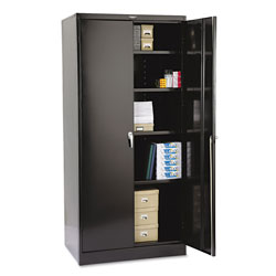 "Tennsco Locking Storage Cabinet, 78""-High, 36"" x 24"", Black"