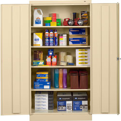 "Tennsco Standard Storage Cabinet, 36""x18""x72"", Putty"