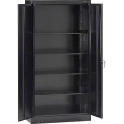 "Tennsco Storage Cabinet, Standard, 36"" x 24"" x 72"", Black"