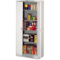 "Tennsco Storage Cabinets, Deluxe, 36""Wx24""Dx78""H, Light Gray"