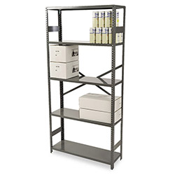 "Tennsco Commercial Steel Shelves, 36"" x 12"", Gray"