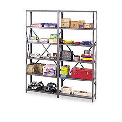 Tennsco Industrial Shelving Post Kit for 36 and 48 Wide Shelves, Gray