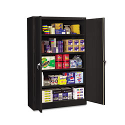 Tennsco Assembled Jumbo Steel Storage Cabinet, 48w x 24d x 78h, Black