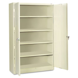 Tennsco Assembled Jumbo Steel Storage Cabinet, 48w x 24d x 78h, Putty