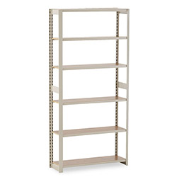 "Tennsco Regal Open Shelving Add-On, 36"" x 12"", 5 Shelves, Beige"