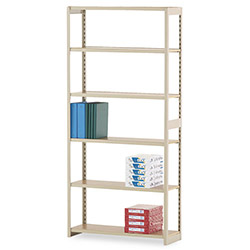 "Tennsco Regal Open Shelving Kit, 36"" x 12"", 5 Shelves, Beige"