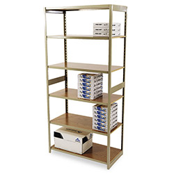 "Tennsco Regal Open Shelving Kit, 36"" x 18"", 5 Shelves, Beige"
