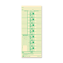 "TOPS Time Card, Numbered Days/4 Days Overtime, 100/Pack, 3 1/2""x9"""