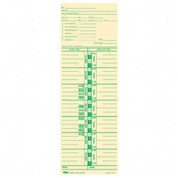 "TOPS Time Cards, Num Days, Payroll Deductions, 100/Pack, 3 1/2""x10 1/2"""