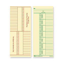 "TOPS Time Cards, Named Days, 100/Pack, 3 3/8""x8 1/4"""