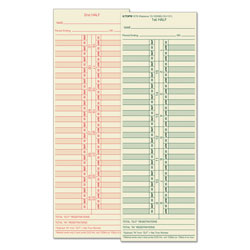 TOPS 3 1/2 x 10 1/2 Semimonthly Time Cards for Cincinnati, Lathem, Simplex, Acroprint