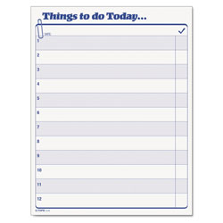 "TOPS ""Things To Do Today"" Daily Agenda Pad, 8 1/2 x 11, 100 Sheets per Pad"