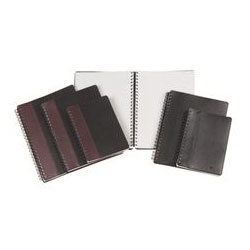 TOPS Executive Notebook, Textured, Leatherette, 8-1/4 x 5-7/8, Burgundy/Black