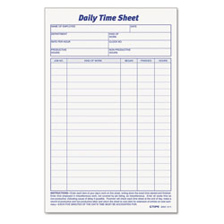 TOPS Daily Employee Time and Job Sheet, 6 x 9 1/2, 2 Pads/Pack, 100 Sheets per Pad