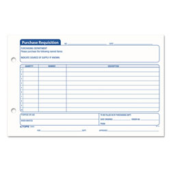 TOPS Purchase Requisition Pad, 10 Lines, 5 1/2x8 1/2, 100 sheets/Pd, 2 Pds/Pack