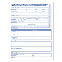 TOPS Comprehensive Employee Application Form, 11 x 17, 25 per Pack