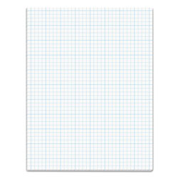 TOPS Cross Section Pad, 8 1/2x11, 4 Squares/Inch, 20 lb., 50 Sheets/Pad