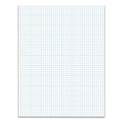 TOPS Cross Section Pad, 8 1/2x11, 5 Squares/Inch, 20 lb., 50 Sheets/Pad