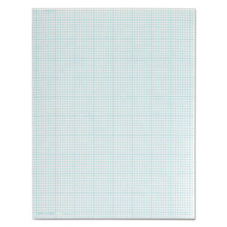 TOPS Cross Section Pad, 8 1/2x11, 8 Squares/Inch, 20 lb., 50 Sheets/Pad