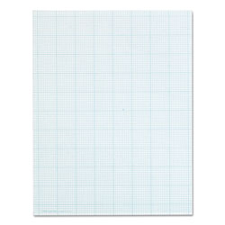TOPS Cross Section Pad, 8 1/2x11, 10 Squares/Inch, 20 lb., 50 Sheets/Pad