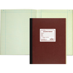 "TOPS Notebook, Computation, 11 3/4""x9 1/4"", Brown"