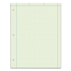 TOPS Engineering Computation Pad, 8 1/2x11, 3 Hole, 16 Lb. Green Bond, 100 Sheets/Pad