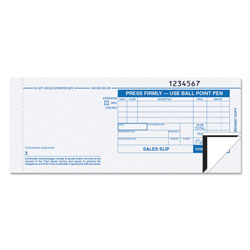 TOPS Carbonless Credit Card Sales Slip, Triplicate, 3 1/4 x 7 7/8, 100 Sets/Pack