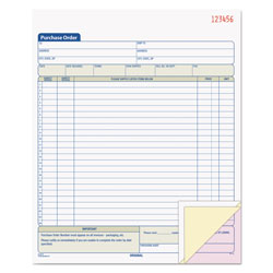 TOPS Carbonless Purchase Order Book, Triplicate, Numbered, 8 1/2x11, 50 Sets/Black