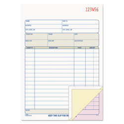 TOPS Carbonless Sales Order Book, Triplicate Style, 50 Sets per Book