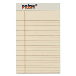 TOPS Jr. Legal Rule Writing Pads, 5x8, Pastel Ivory, 50 Sheets/Pad, 12/Pack