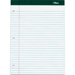 "TOPS Legal Pad, Perforated, Legal Rule, 3HP, 100 Sheet, 8-1/2"" x 1-3/4"", WE"