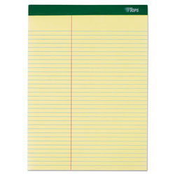 TOPS Letter Size Law Rule Double Pad, Canary, 100 Sheets/Pad, 6/Pack
