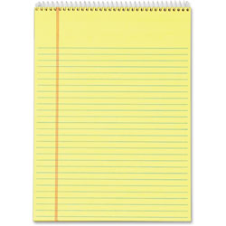 "TOPS Wirebound Pad, Legal Rule, 70 sheets, 8-1/2""x11-3/4"", 3/Pack, Canary"