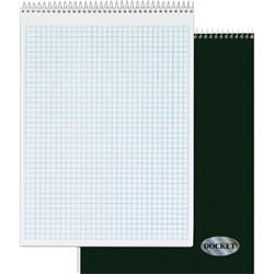 "TOPS Quadrille Pad, 8 1/2"" x 11 3/4"" 70 sheets, 4 Squares Per Inch, WE"