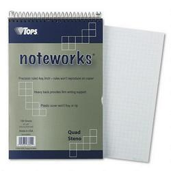 TOPS Poly Covered Steno Books, 6x9, 100 Sheets, Gold Metallic Cover