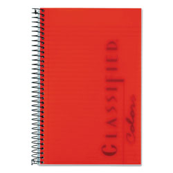 TOPS Classified Ruby Red Cover Notebook, 8-1/2x5-1/2, Narrow Rule, 100 Sheets