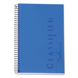 TOPS Classified Indigo Blue Cover Notebook, 8-1/2x5-1/2, Narrow Rule, 100 Sheets