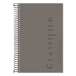 TOPS Classified Graphite Cover Notebook, 8-1/2x5-1/2, Narrow Rule, 100 Sheets