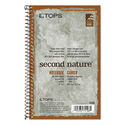 TOPS 1 Subject Wirebound Notebook, 3 Hole Punched, 8 x 5, 80 Sheets