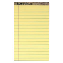 TOPS Recycled 8 1/2x14 Pads, Canary, Legal Rule, 50 Sheets/Pad, 12/Pack