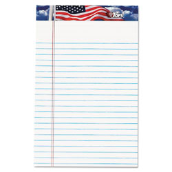 TOPS Writing Pads, White, 5 x 8, 50 Sheets/Pad, 12 Pads/Pack