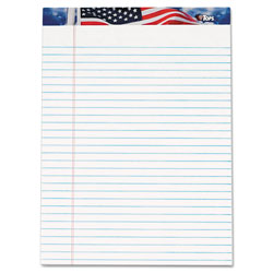 TOPS Writing Pads, White, 8 1/2 x 11 3/4, 50 Sheets/Pad, 12 Pads/Pack