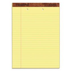 TOPS Perf Top Legal Pad, 2 Hole/Top, Letter, Canary, 50 Sheets/Pad, Dozen