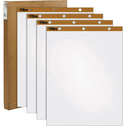 "TOPS Easel Pad, Plain Ruled, 50 Sheets, 27""x34"", White"