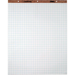 "TOPS Easel Pad, 1"" Square Ruled, 50 Sheets, 27""x34"", 2/CT, White"