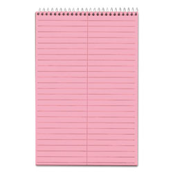 TOPS 6x9 Gregg Ruled Steno Notebook, 80 Perforated Pink Sheets/Book, 4 Books/Pack