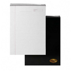 TOPS Gold Wirebound Legal Rule Planner Pad, Letter, White, 70 Sheets/Pad