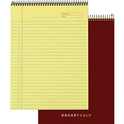 TOPS Gold Wirebound Legal Rule Planner Pad, Letter, Canary, 70 Sheets/Pad