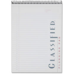 TOPS Classified White Cover Notebook, 8-1/2 x 11-3/4, Legal Rule, 70 Sheets