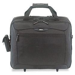 Targus TCG717 Rolling Travel Notebook Case with Overnight Luggage Section, Black